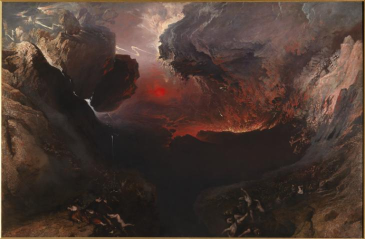 """""""The Great Day of His Wrath"""" by John Martin, c. 1852 (Tate Britain)"""