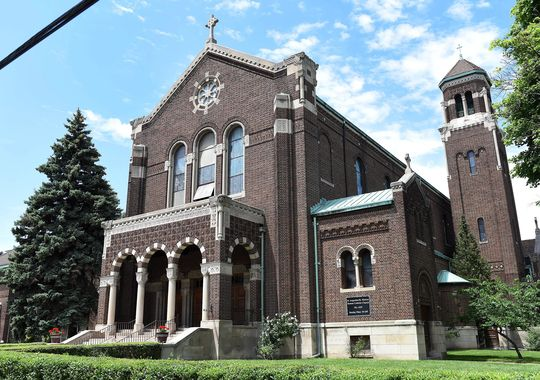 St. Augustine and St. Monica Catholic Church has been a Detroit landmark since the 1920s. (Photo: Robin Buckson / The Detroit News)