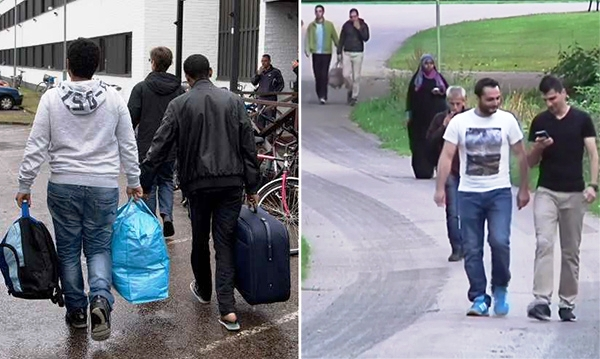 Asylum seekers in the Swedish city of Kalmar, where Christian refugees were forced to move out of public housing after being harassed and threatened by Muslims.
