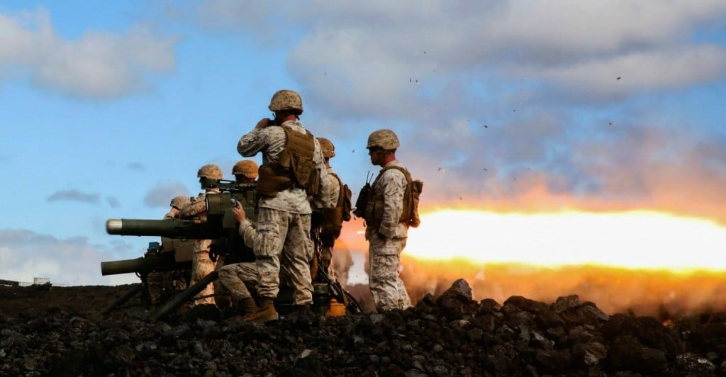 Trinity Marines fire the BGM-71 missile during exercise Lava Viper, one of the staples of their pre-deployment training, at Range 20 aboard Pohakuloa Training Area, Hawaii, Oct. 24, 2015. Lava Viper provides the Hawaii-based Marines with an opportunity to conduct various movements, live-fire and tactical training. (U.S. Marine Corps photo by Lance Cpl. Harley Thomas)