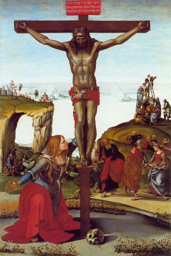 signorellicrucifix_w_Mary_Uffizi_c1500