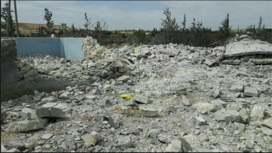 This photo is said to show the aftermath of the airstrike that killed the American couple. (Facebook/Terrorism Research & Analysis Consortium)