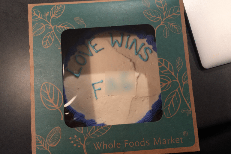 Pastor Jordan Brown filed a lawsuit accusing a Whole Foods employee for writing an anti-gay slur on a cake (Credit: KXAN & the Kaplan Law Firm)