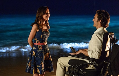 "Emilia Clarke and Sam Claflin star in a scene from the movie ""Me Before You."" CNS photo/Warner Bros."