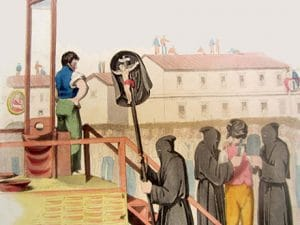 "Detail from ""An Execution in Rome for Murder, 1820"" by Richard Bridgens"