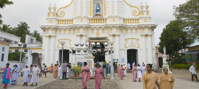 Mandatory Credit: Photo by David Pearson/REX (743376aj) Church of our Lady of Immaculate conception in Pondicherry, India India - 2008