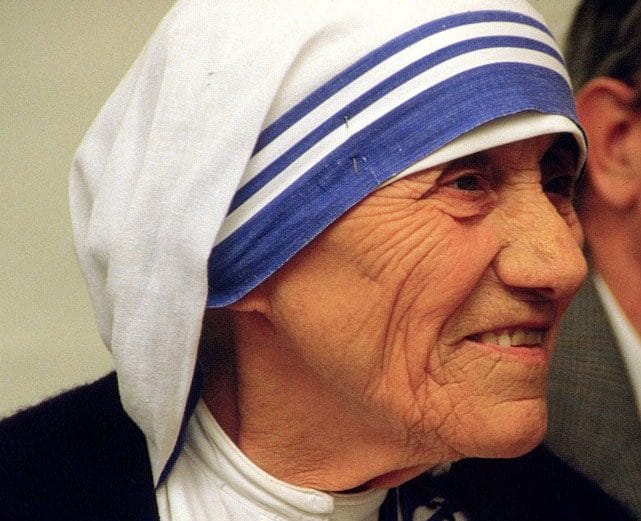 Mother Teresa of Calcutta at a pro-life meeting on July 13, 1986 in Bonn, Germany - CC BY-SA 2.0 de