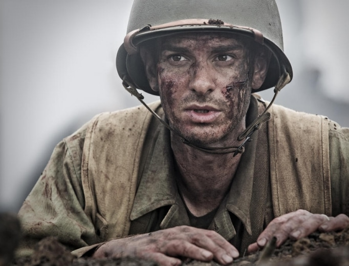 Andrew Garfield portrays Medal of Honor recipient Desmond Doss in Hackshaw Ridge. (Lionsgate)
