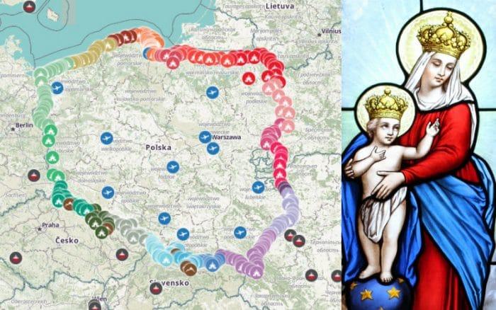 Résultat- Rosaire pour la protection des Nations chrétiennes-7 oct 2018- Sainte Ligue des nations-Rosary Coast to Coast Poland-mary-700x438