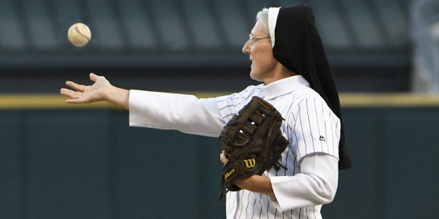"Nun who threw ""perfect pitch"" at Chicago Sox game to get own"